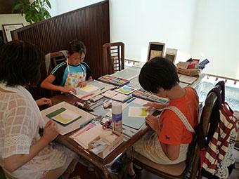 親子でパステルアート教室